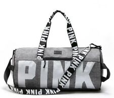 Victorias Secret PINK Marl Grey Canvas Yoga Duffle Bag School Holiday Gym Travel