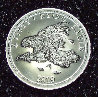 "2019 Zombucks ""Dying Eagle"" 1 oz. .999 Fine SILVER Round"