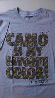 - Duck Dynasty Camo Favorite Color Men's T-shirt Size Medium Gray