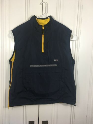 Tommy Hilfiger Athletics Mens XL Yellow Blue Wind… - image 1