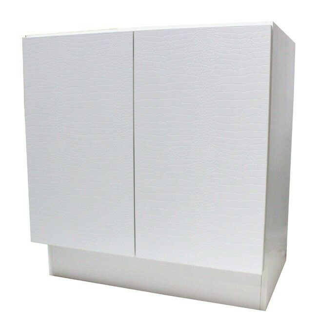 30  European Style Door Bathroom Vanity Plywood Cabinet White Crocodile Pattern