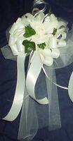 10-ivory On Ivory Wedding Pew Bows
