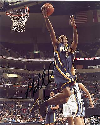 Sports Mem, Cards & Fan Shop Marquis Daniels Indiana Pacers Signed 8x10 Photo W/coa