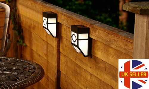 2 Pack Solar Fence Bright Wall LED Lights Waterproof Outdoor Security