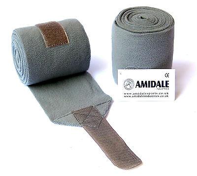 Amidale Polo Wraps Fleece Stable Bandages Horse Equestrian Leg Wraps Set Of 4 One Size