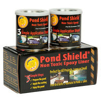 Pond Armor Pond Shield Non-toxic Epoxy Pond Liner & Sealer 1.5 Gallons White