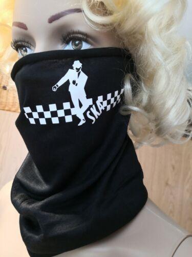 Ska two tone rude boy Multi wear use Neck Tube scarf Snood Face Mask Bandana