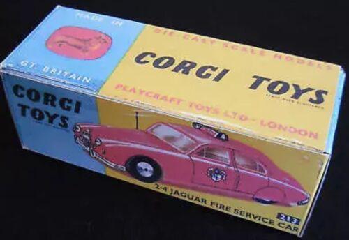 Corgi 213 2.4 Jag Fire Service Car Empty Repro Box