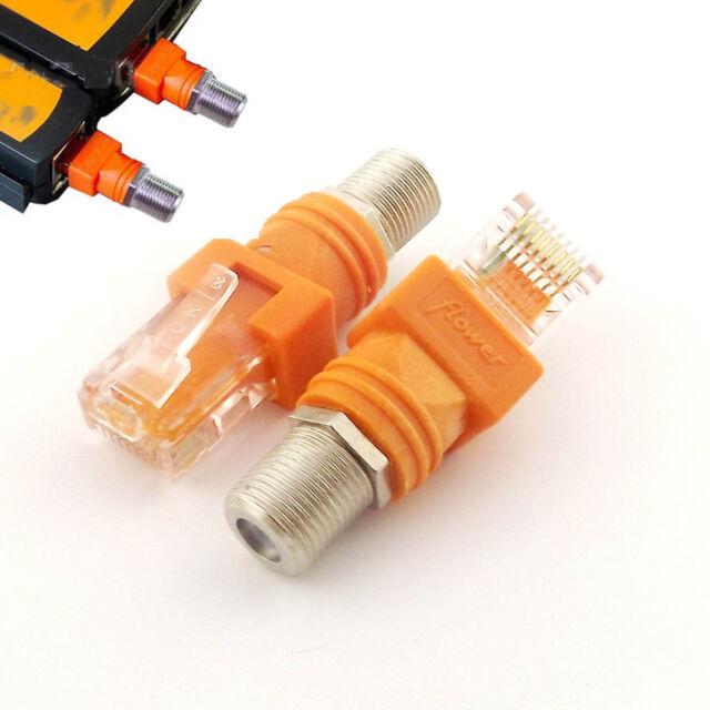 10pcs BNC Female to RJ45 Male Plug Barrel Coupler Adapter RJ45 to RF Connector