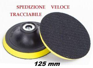 PLATORELLO-DISCO-VELCRATO-VELCRO-PER-SMERIGLIATRICE-FLEX-DIAMETRO-125mm-M14