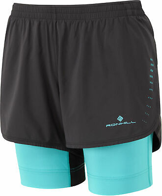 Ronhill Infinity Marathon Twin Womens Running Shorts - Black