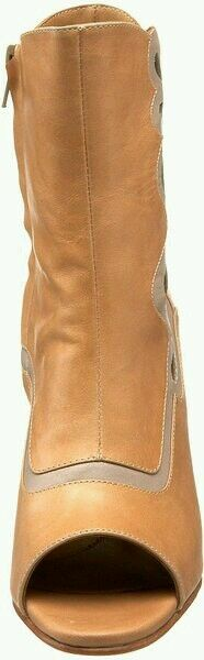 385 JOHN FLUEVOG MIRACLES BETHSAIDA PEACH LEATHER ANKLE BOOTS 6.5 HEELS SHOE 3d3f26