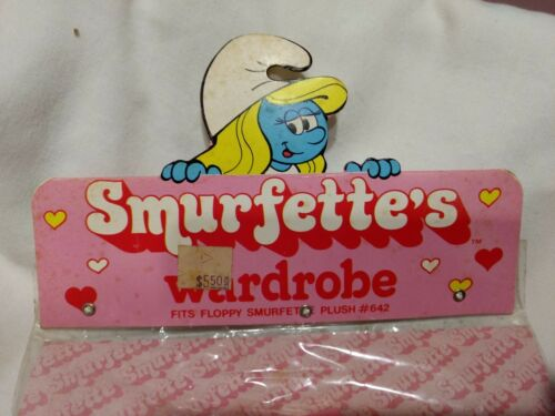 Rare Smurfette/'s Wardrobe Or Plush Doll Pink One Piece Pajamas 1983    NEW t1312