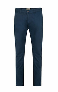Lee Cooper Mens Coborn Chinos Slim Fit Cotton Trousers Navy Blue ... 53adfe418bad
