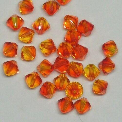 12pc Swarovski Crystal Fire Opal Bicone 5328 Beads; 4mm or 6mm 24pc