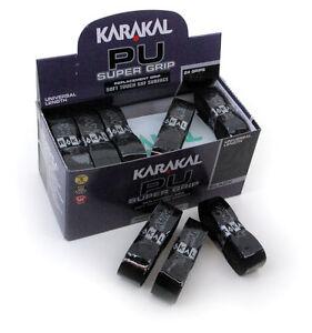 5.99 2 Nouvelle Karakal Super Polyuréthane Grips Noir Tennis Squash Badmintonfreepost-ostafficher Le Titre D'origine