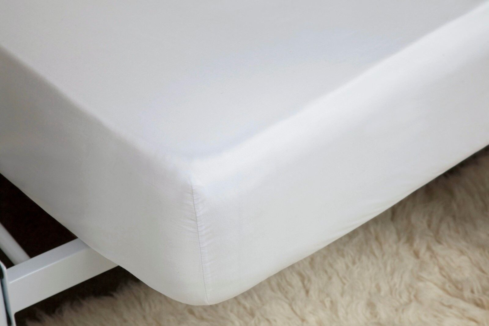 450Thread Count Pima Cotton Deep Superking Größe Fitted Sheet in Weiß 38cm Deep