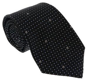 Roberto-Cavalli-ESZ041-05051-Black-Micro-Geometric-Tie