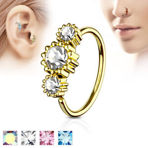Gold-IP-Ear-Cartilage-Helix-Tragus-Rook-Snug-Daith-Hoop-Nose-Ring-Piercing-20G