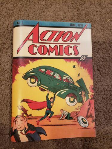 ACTION COMICS #1 JUNE 1938 Custom Made Cover REPRINTSUPERMAN 1ST APPEARANCE