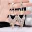 Elegant Crystal Rhinestone Long Dangle Drop Earrings for Events for Women UK