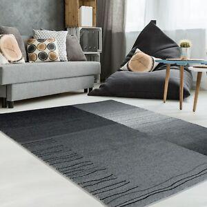 Das Bild Wird Geladen Teppich Modern Designer Wohnzimmer Impression Karo  Grau Beige