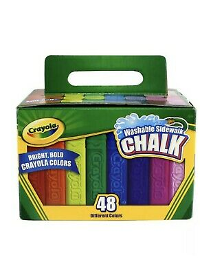 crayola 48ct washable sidewalk chalk assorted colors new