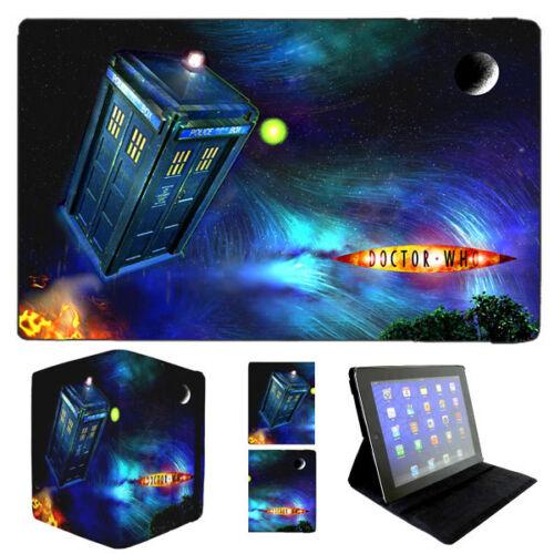 Dr Doctor Who Flying Tardis iPad 4 Air Mini Flip Case David Tennant Matt Smith