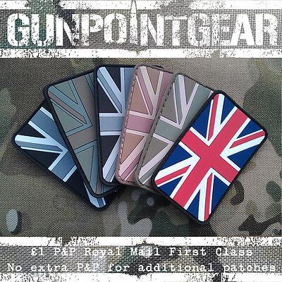 Gun Point Gear PVC Velcro Morale Patch Union Jack Flag Two Pack Multicam British