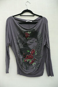 Striking-Face-Print-Top-Black-Grey-By-Select-Size-8