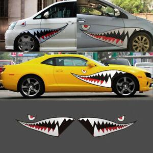 150cm-59-039-039-Shark-Mouth-Teeth-Vinyl-Car-Boat-Kayak-Sticker-Decal-Badge-Waterproof