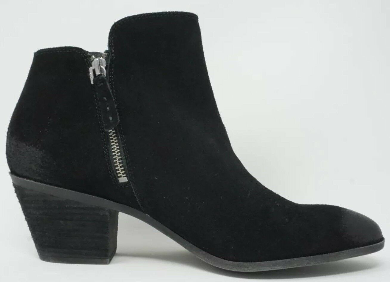 Frye Judy Zip Bootie Womens Ankle Boot Suede Black Size 11
