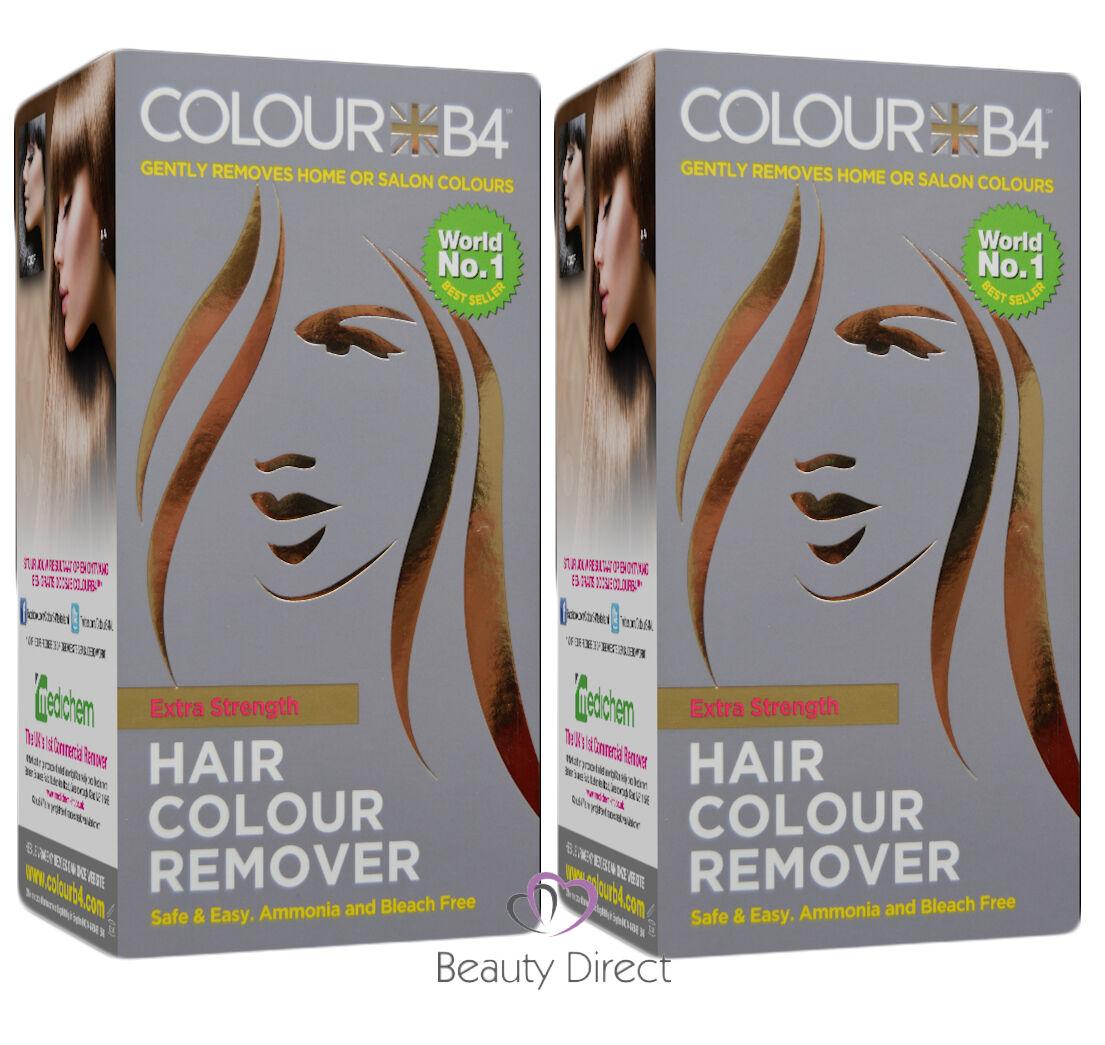 2 Boxes Colour B4 Colourb4 Hair Colour Remover Stripper No Bleach