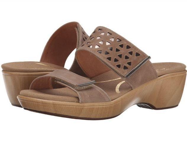 NEW  170 NAOT Moreto Khaki Khaki Khaki Glass Pewter LEATHER Sandals shoes 36 Womens 5 017378