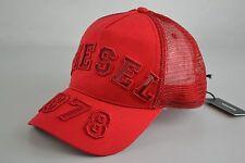 Diesel columb red Mütze Cap Capi Caps hat Size Uni free snapback