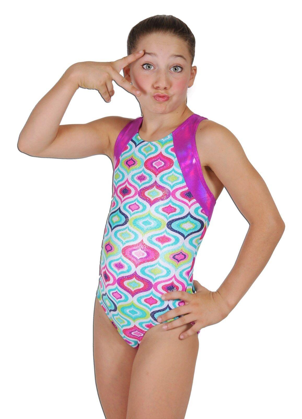 NEW  Jeweled Gymnastics or Dance Leotard by Snowflake Designs