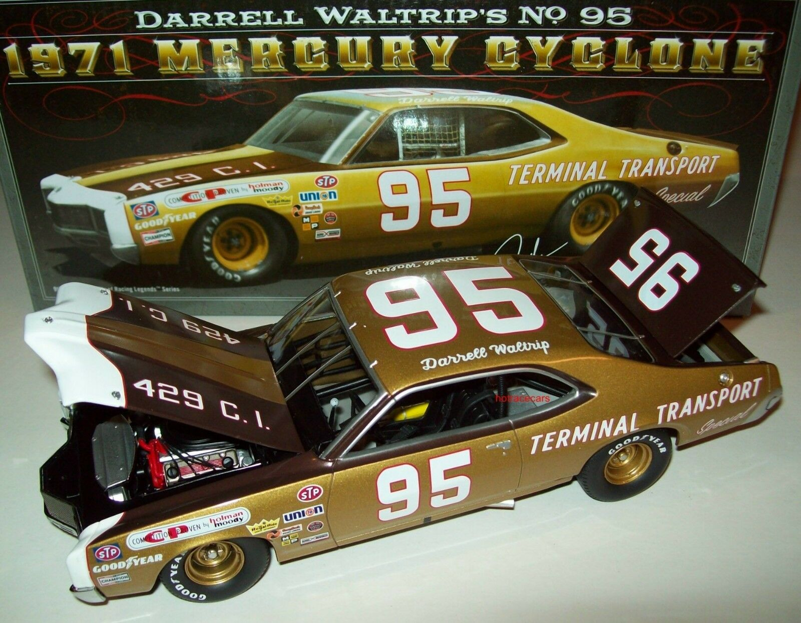 Darrell Waltrip 1971 Mercury Cyclone  95 Terminal Transport 1 24 NASCAR Legends