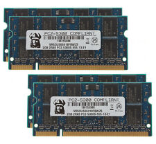 New 8GB 4X 2GB 2RX8 DDR2 667MHz PC2-5300S CL5 SODIMM Elpida Chips Laptop Memory