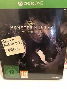 Monster-Hunter-World-Collector-NEUF-Xbox-One-S-X-DLC-BONUS-RARE-FR-SEALED