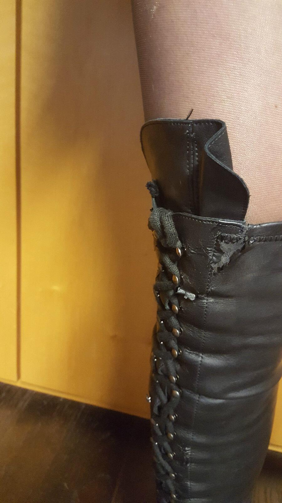 Overknee Overknee Overknee Stiefel New Rock gebraucht schwarz Luxus Gothic Punk 7dcf37
