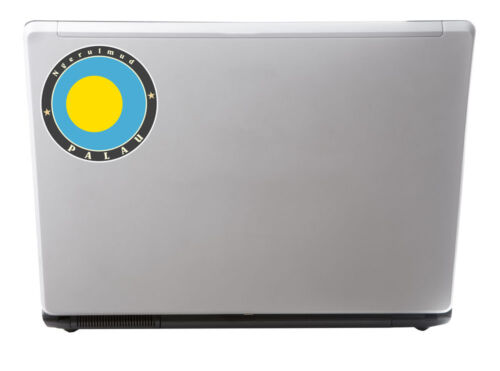 2 x 10cm Palau Vinyl Sticker iPad Laptop Flag Luggage Travel Tag Gift Fun #5091