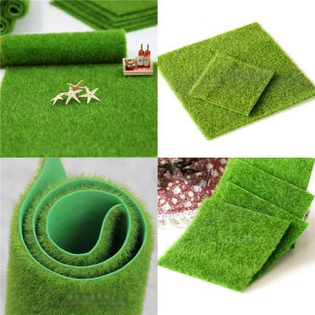 Artificial Grass Plastic Mat Thick Greengrocer Fake Turf Lawn Greensward Db For Sale Online Ebay