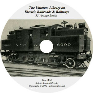 35-Books-on-DVD-Ultimate-Library-on-Electric-Railroads-amp-Railways-Locomotive