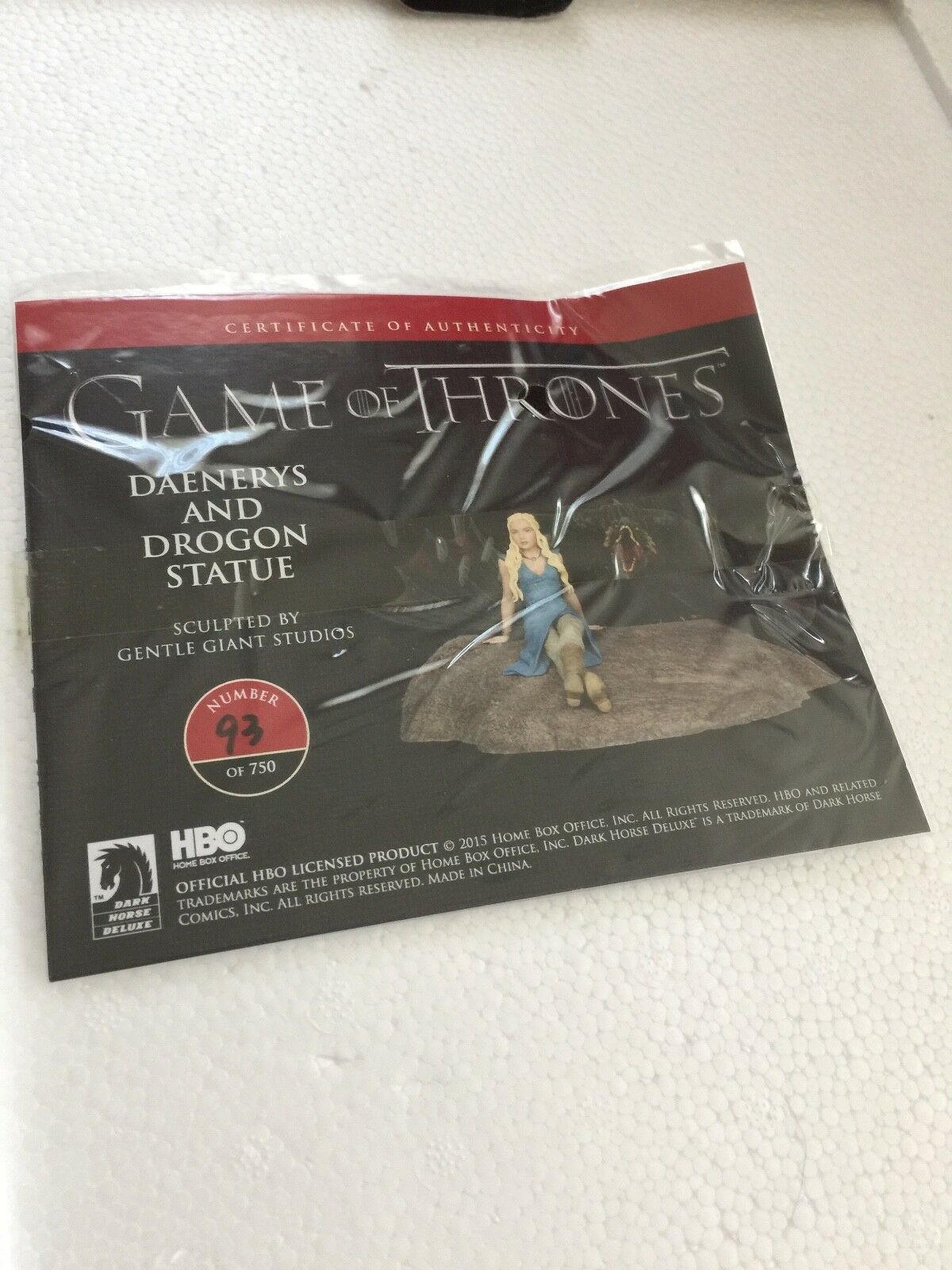 Game Game Game of Thrones Daenerys & Drogon Statue Dark Horse Large Limited Edition MIB f38e39