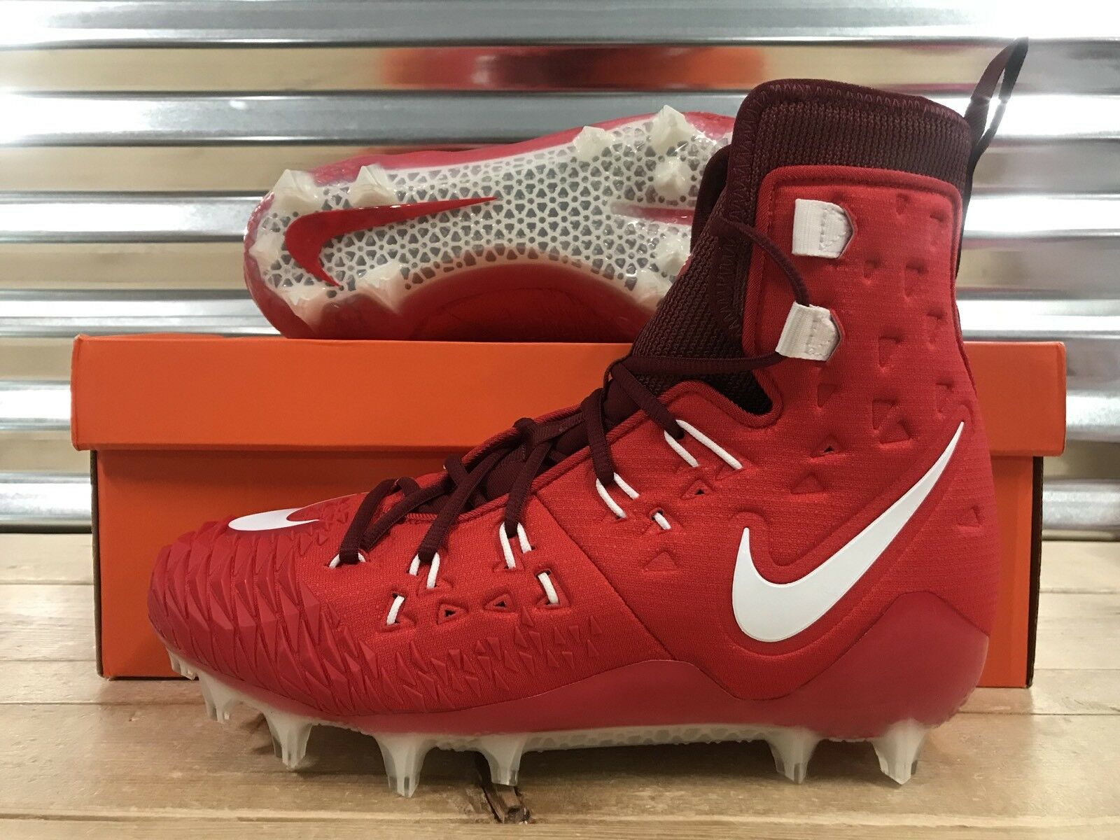 Nike Force Savage Elite TD Lineman Football Cleats Red White Price reduction Wild casual shoes