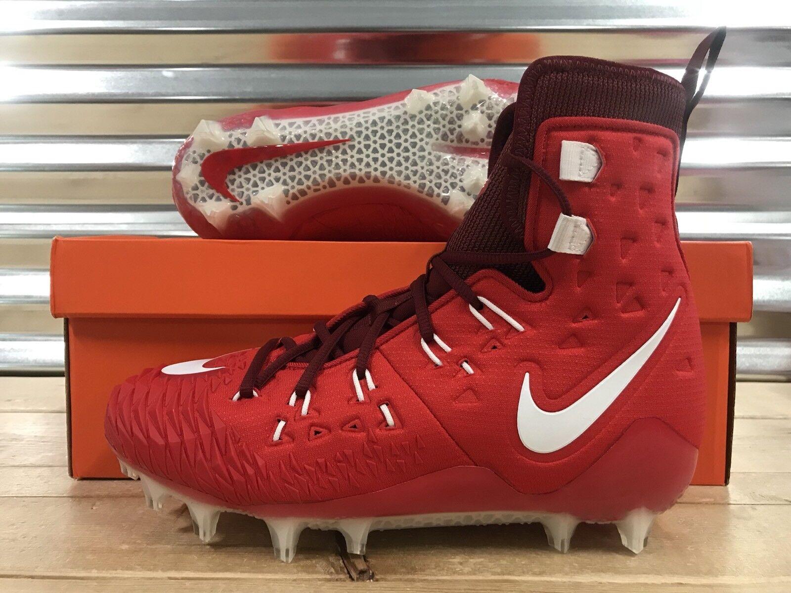 Nike Fuerza Salvaje Elite Td lineman Fútbol (857063-616) Tacos Rojo Blanco Talla (857063-616) Fútbol 906b42