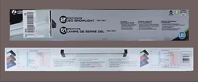29-Watt Silver Integrated LED Grow Light FREE SHIP Lithonia Lighting GRWL 2 ft