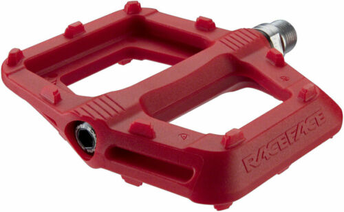 "9//16/"" Red Composite RaceFace Ride Pedals Platform"
