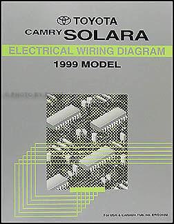 1999 Toyota Camry Solara Wiring Diagram Manual Original ...
