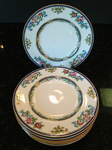 Image is loading 9-Antique-Hand-Painted-China-Plates-CHINOISERIE-Minton- & 9 Antique Hand Painted China Plates CHINOISERIE Minton England B898 ...